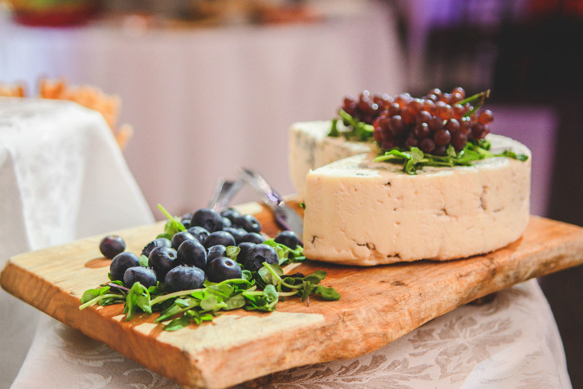 Cheese Platter with blueberry